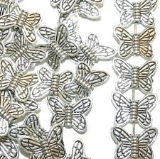 MB773L2 Antique Silver 15mm Butterfly Metal Beads 25/pkg