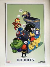 MARVEL Infinity Art print Card Skottie Young Comic Con NEW