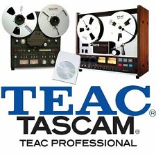 TEAC AND TASCAM REEL TO REEL TAPE RECORDER USER and SERVICE MANUAL on CD