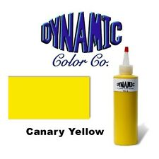 DYNAMIC CANARY YELLOW 1-oz Tattoo Ink Brite Vibrant & Dark Color Supply