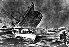 Periódico publicar hundimiento del Titanic durante su viaje inaugural cartel impresión
