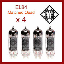 Telefunken Black Diamond EL84 Power Vacuum Tube - Matched Quad - 4 Pieces