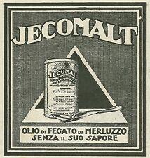 W6328 JECOMALT - Olio di fegato di Merluzzo - Pubblicità 1929 - Advertising
