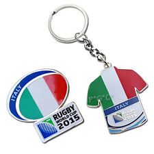 Rugby World Cup 2015 Italy Flag Pin and Key Ring Set