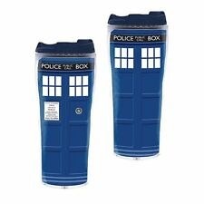 Doctor Who Like Police Box Travel  Mug Insulated Tumbler Cup - 12 oz