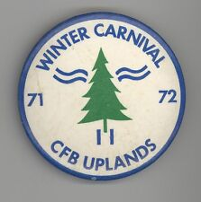 1971 CFB UPLANDS Winter Carnival BADGE Pin BUTTON Ottawa Ontario CANADIAN FORCES