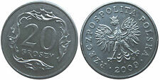 Polen Poland  coin 20 groszy grosz 2009 UNC  - Mint condition