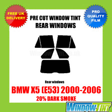 BMW X5 (E53) 2000-2006 20% DARK REAR PRE CUT WINDOW TINT