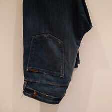 7 FOR ALL MANKIND Mens Blue Two Tone Wash Denim Jeans UK 34