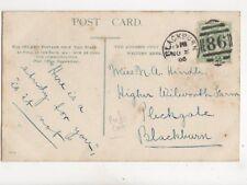 Miss NA Hindle Higher Wilworth Farm Pleckgate Blackburn 1905  141b