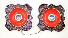 zwei seltene alte Keramik Deckenlampen, Kult Retro Einbaulampe 70er