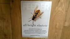 FEEDER - ALL BRIGHT ELECTRIC PROMO SHOP POSTER WASP IMAGE