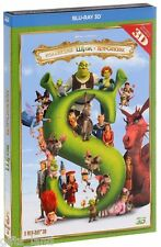 NEW 5 Blu-ray Shrek 3D: The Complete Collection + Puss Boots Box Set Whole Story
