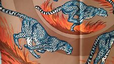 HERMES SILK TWILL SCARF 'GUEPARDS' hand rolled, 90cm Square in 100% SILK - BNWT