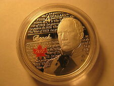 CANADA 2012 WAR OF 1812 HERO SIR ISAAC BROCK  $4 SILVER COIN ROYAL CANADIAN MINT