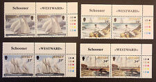 JERSEY SG405/408 RACING SCHOONER WESTWARD CORNER PAIRS WITH TRAFFIC LIGHTS MNH