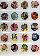 39  - Tales From The Crypt SCARE - Tazos Pogs Caps Set Vintage 1995