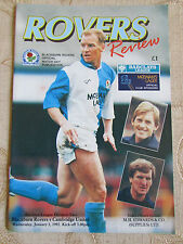 The Official Match Day Publication Of  Blackburn Rovers & Cambridge United 1992