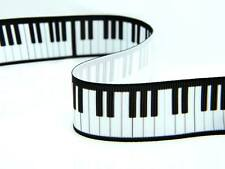 Black and White Piano Keyboard Keys Notes Lace Ribbon Cake Card Music Notes uk