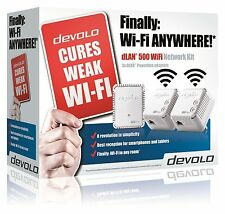 Devolo dLAN 500 wifi red Powerline 9092 Kit Completo Con 3 Adaptadores/Enchufes