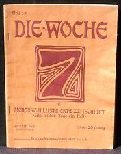 Die Woche Heft 34 23 august 1913 TBE