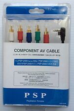 PSP 2000 and 3000 Component AV cable 6 feet long Free Shipping
