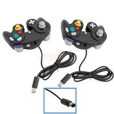 New Lot2 Game Controller Pad Joystick for Nintendo GameCube GC or Wii Black US