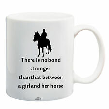 Juko Horse Rider Mug Quote There Is No Bond Stronger Coffee Tea Cup