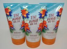 LOT OF 3 BATH & BODY WORKS TIKI MANGO MAI TAI WHITE SAND BODY SCRUB WASH 8OZ NEW