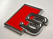 Audi S Badge Emblem Decal Quattro Rear Tail Boot BadgeA3 A4 A5 A6 A8 S3 S4 S5 S8