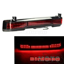 Plastic Trunk King Tour Pack Wrap Around LED Brake Taillight Motorcycle Red Lens