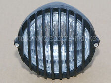 Motorcycle Scalloped Headlight Finned Grill For Harley Cruiser Bobber Cafe racer