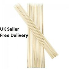 """Wooden Skewers for Kebabs, BBQ, Fruits, Chocolate Bamboo Sticks 10"""" Long 100 pcs"""