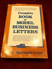 "OLD VTG 1976 BOOK ""COMPLETE BOOK OF MODEL BUSINESS LETTERS"" BY MARTHA W. CRESCI"