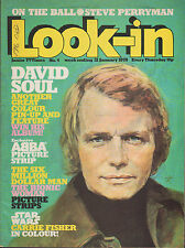 David Soul on Look-In Magazine Cover 21 January 1978     Carrie Fisher