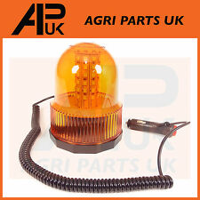LED Magnetic Mount Rotating Flashing Amber Dome Beacon Warning Light Recovery