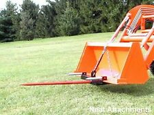 "HD Bucket Hay Bale Spear Attachment For Front Loader & Skid Steer w/ 49"" Prong"