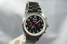 FOSSIL Herrenuhr CH2909 Chronograph top Uhr schwarz breit EDELSTAHL Datum NEU