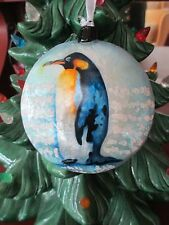 PENGUIN  ~ CAPIZ SHELL ORNAMENT           1646F*