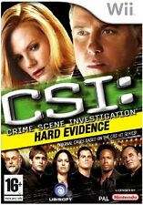 CSI Crime Scene Investigation Hard Evidence Wii Video Game Nintendo Original UK