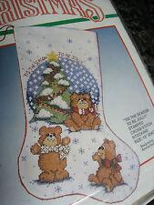 Christmas Bucilla Stamped Cross Stocking KIT,TIS THE SEASON TO BE JOLLY,82527