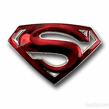 SUPERMAN RETURN S LOGO RED CLASSIC BELT BUCKLE OFFICIAL WESTERN MENS DC COMICS.