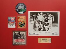LYNYRD SKYNYRD,Promo photo,4 Backstage passes,concert ticket,RARE Originals,