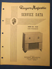ROGERS MAJESTIC R211 H RADIO PHONOGRAPH SERVICE MANUAL ORIGINAL FACTORY ISSUE