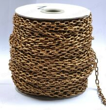 FREE SHIP 2M Coffee Plated Cable Open Link Iron Metal Chain Findings BE1380