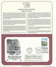 1990 US First Day Cover, 25 Cent Rhode Island Statehood, May 29, 1990, PCS