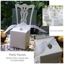 12 pcs White Chair Party Candy/Favor Box and Card Holder