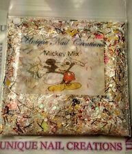 Limited Edition Glitter Mix~MICKEY MIX* Comes With Alloy~ Nail Art