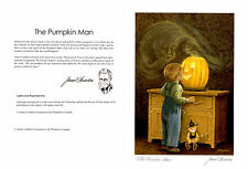 The Pumpkin Man Six Art Cards (NO INVELOPE) Blank By James Lumbers gift forO_O