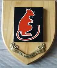Vintage  7th Armoured Division Crest Shield Plaque Desert Rats Hand painted